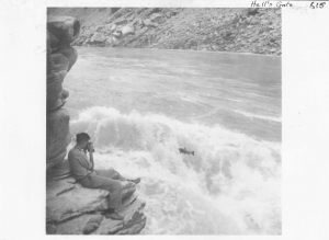 Bill Ricker at Saddle Rock working for the IPSFC in 1938