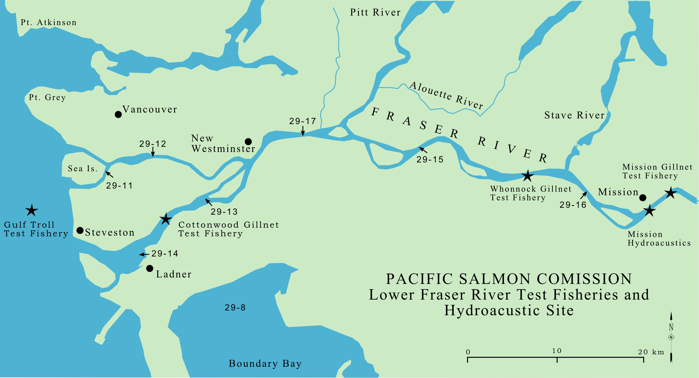 Fraser Valley Map Test Fisheries Maps | Pacific Salmon Commission